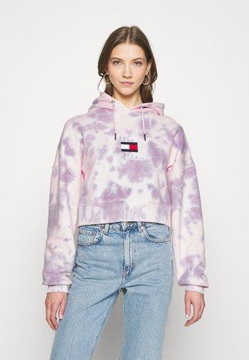 TIE DYE HOODIE  - Sweatshirt - pink