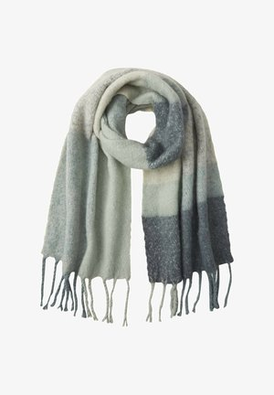 Scarf - iced mint colorblock