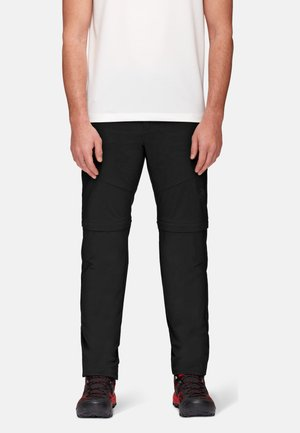 HIKING ZIP OFF PANTS MEN - Trousers - black
