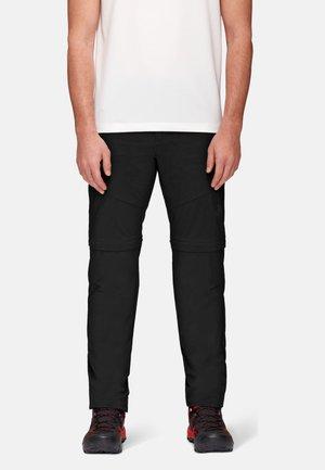 HIKING ZIP OFF PANTS MEN - Trousers - black