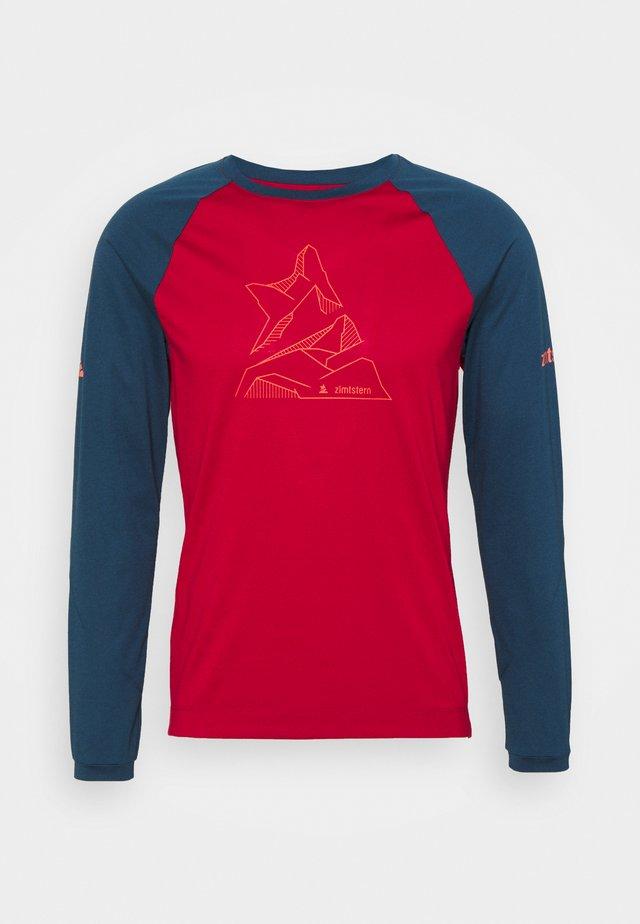 PUREFLOWZ MENS - T-shirt de sport - jester red/french navy