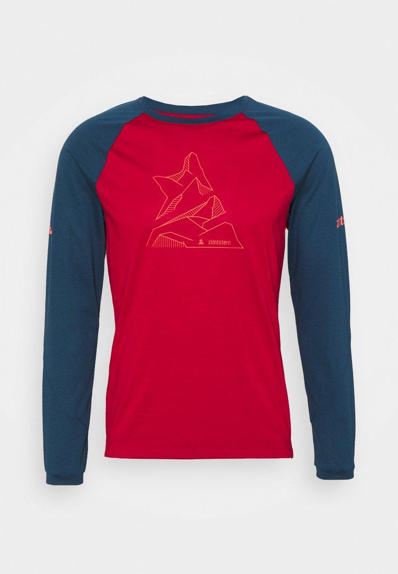 Zimtstern - PUREFLOWZ MENS - Sports shirt - jester red/french navy
