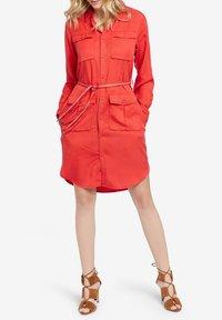 khujo - LEANNA - Shirt dress - red - 3