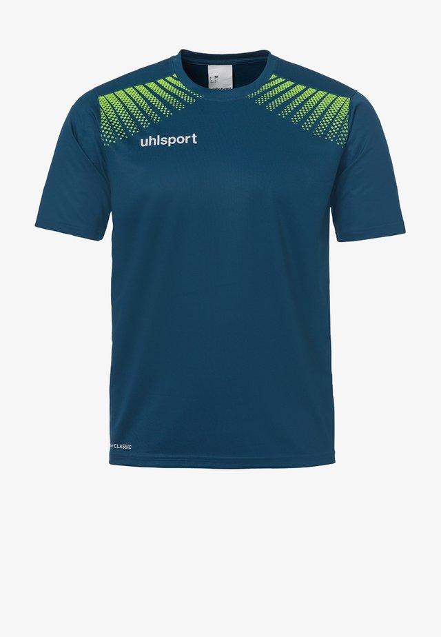 GOAL TRAINING  - Print T-shirt - blue/neon green