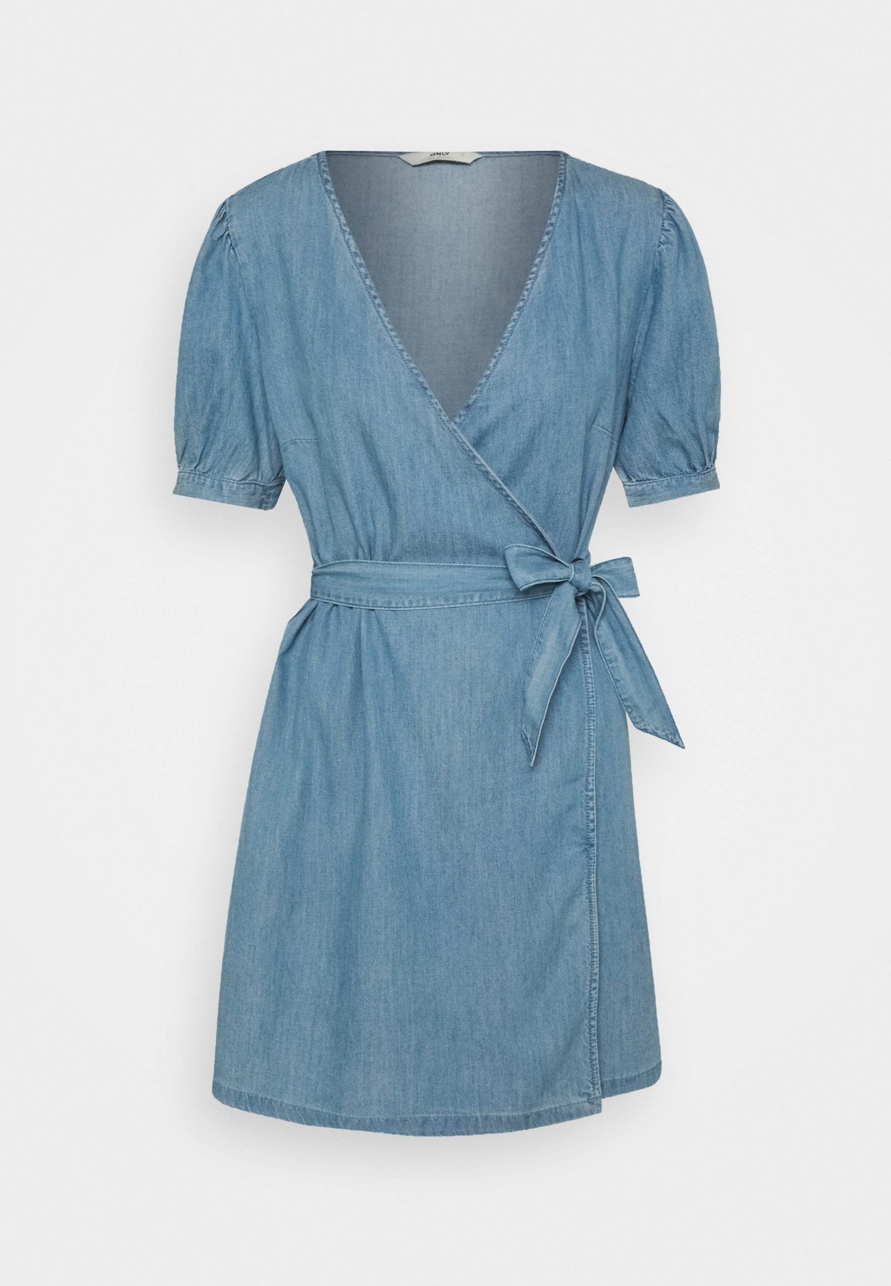 Women ONLASTA WRAP DRESS - Denim dress