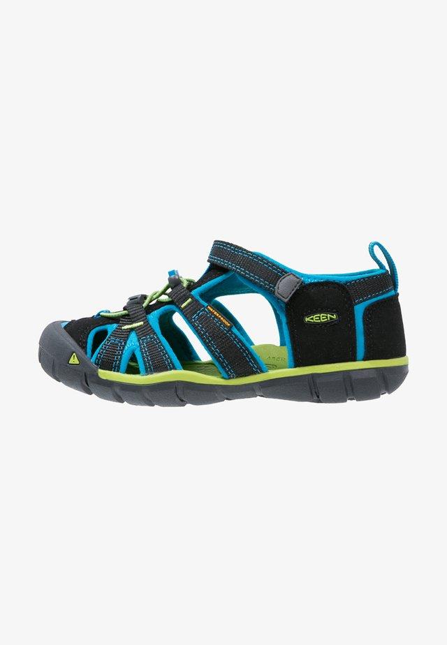 SEACAMP II CNX - Sandały trekkingowe - black/blue danube
