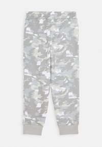 Nike Sportswear - CRAYON CAMO - Tracksuit bottoms - light smoke grey/smoke grey/volt - 1