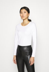 Anna Field - 3 PACK - Camiseta de manga larga - black/white/mottled light grey - 1