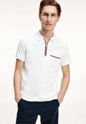 ZIP PLACKET  - Polo shirt - white