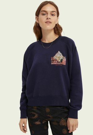 RAGLAN CREWNECK WITH GRAPHIC - Sweatshirt - ink