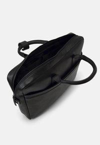Zign - LEATHER UNISEX - Laptop bag - black - 2