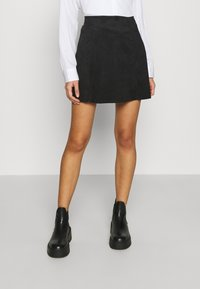 ONLY - ONLSARAH NEOLINE SKIRT  - Mini skirt - black - 0