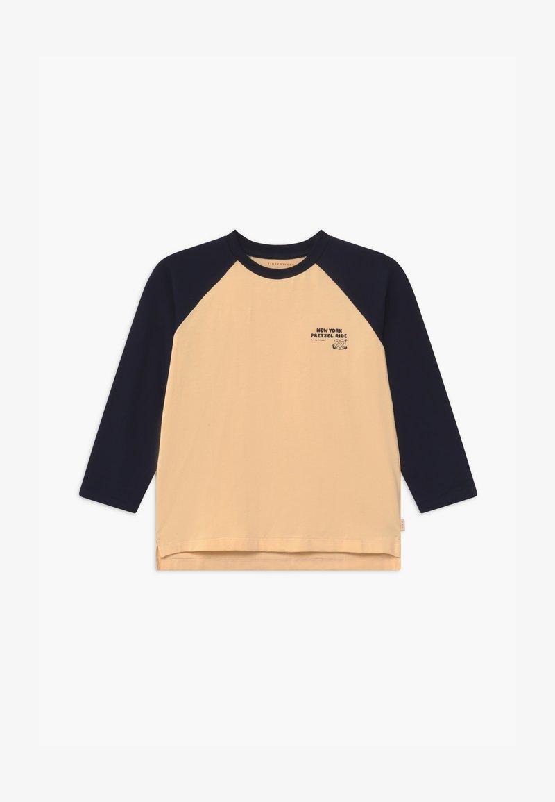 TINYCOTTONS - PRETZEL RIDE TEE UNISEX - Long sleeved top - cream/navy