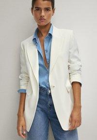 Massimo Dutti - Button-down blouse - light blue - 2