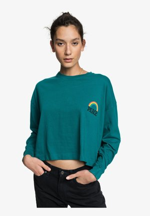 Long sleeved top - teal green