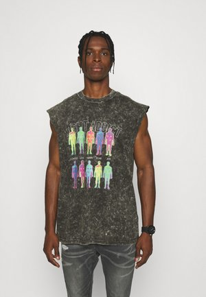 T-shirt print - charcoal