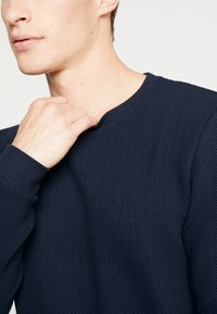 TOM TAILOR DENIM - STRUCTURE CREWNECK - Sweatshirt - sky captain blue - 5