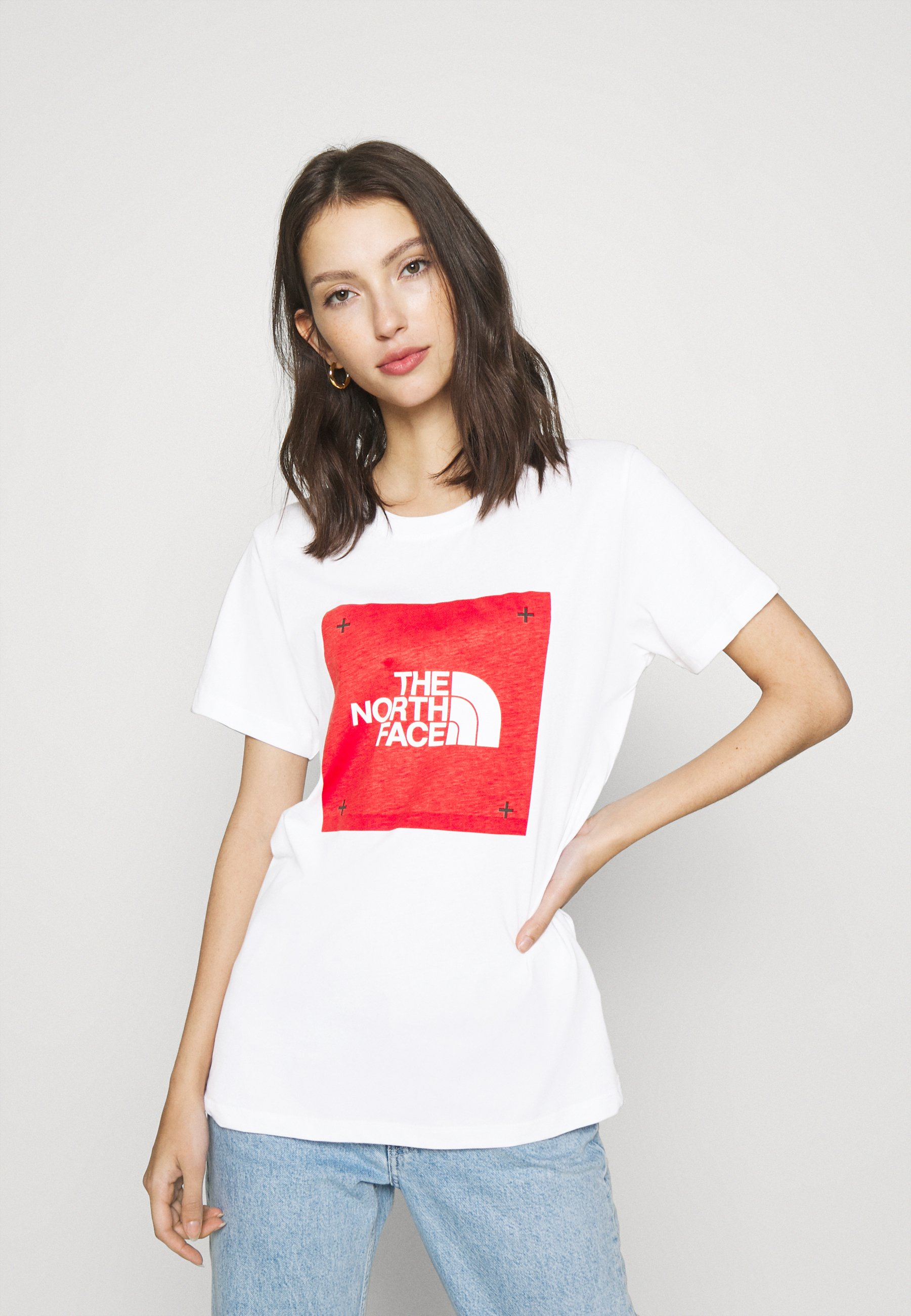 BOX TEE T shirt med print white