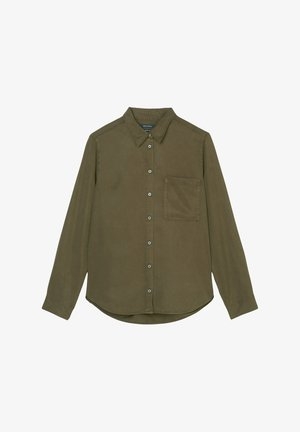 Button-down blouse - native olive