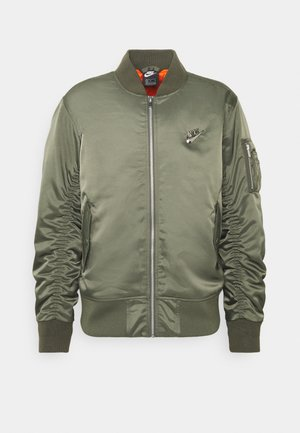 PUNK BOMBER JACKET - Bomber Jacket - twilight marsh/electro orange
