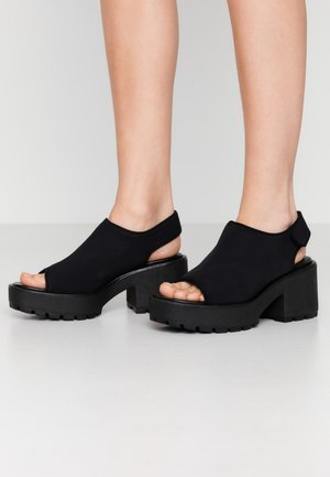 DIOON - Platform sandals - black