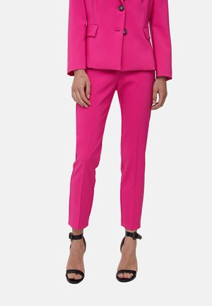 PANTALONI SKINNY IN TECNICO - Trousers - rosa