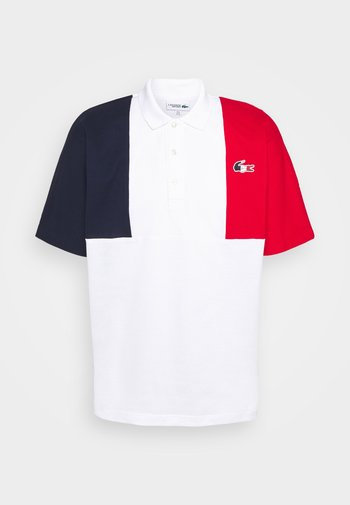 OLYMP - Polo shirt - navy blue/white/red