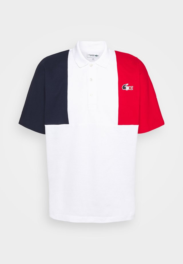 OLYMP - Poloshirt - navy blue/white/red