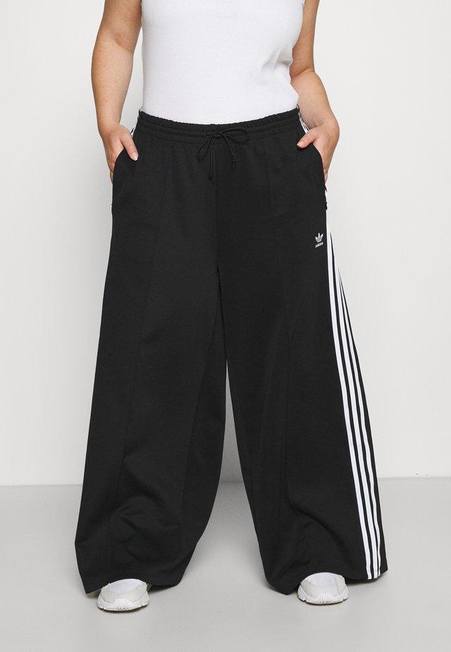 WIDE LEG  - Tracksuit bottoms - black/white
