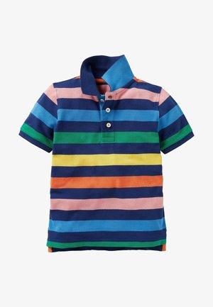 Polo shirt - segelblau, regenbogen