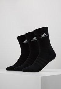 adidas Performance - CUSH 3 PACK UNISEX - Sportsstrømper - black/white - 0