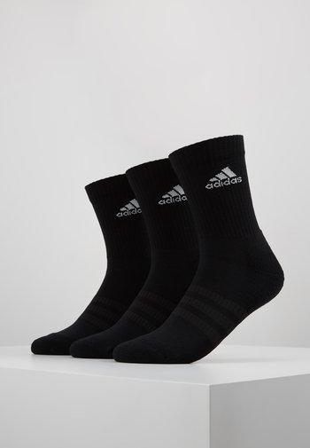 CUSH 3 PACK UNISEX - Sportssokker - black/white