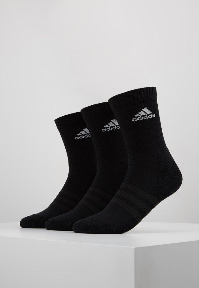 CUSH 3 PACK - Urheilusukat - black/white