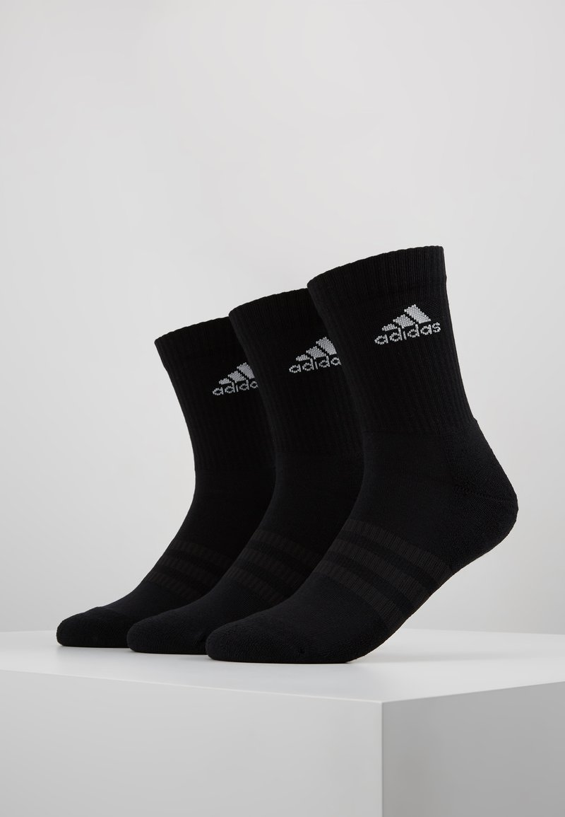 adidas Performance - CUSH 3 PACK - Sports socks - black/white
