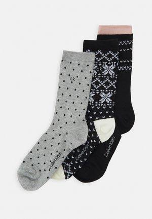 WOMENS DRESS CREW GIFTBOX DAWN 3 PACK - Socks - black