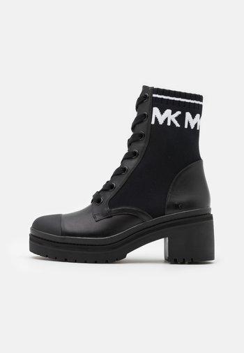BREA BOOTIE - Platform ankle boots - black/optic white