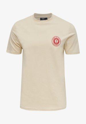 Print T-shirt - bone white