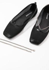Jeffrey Campbell - GERALDINE - Ballet pumps - black/silver - 5