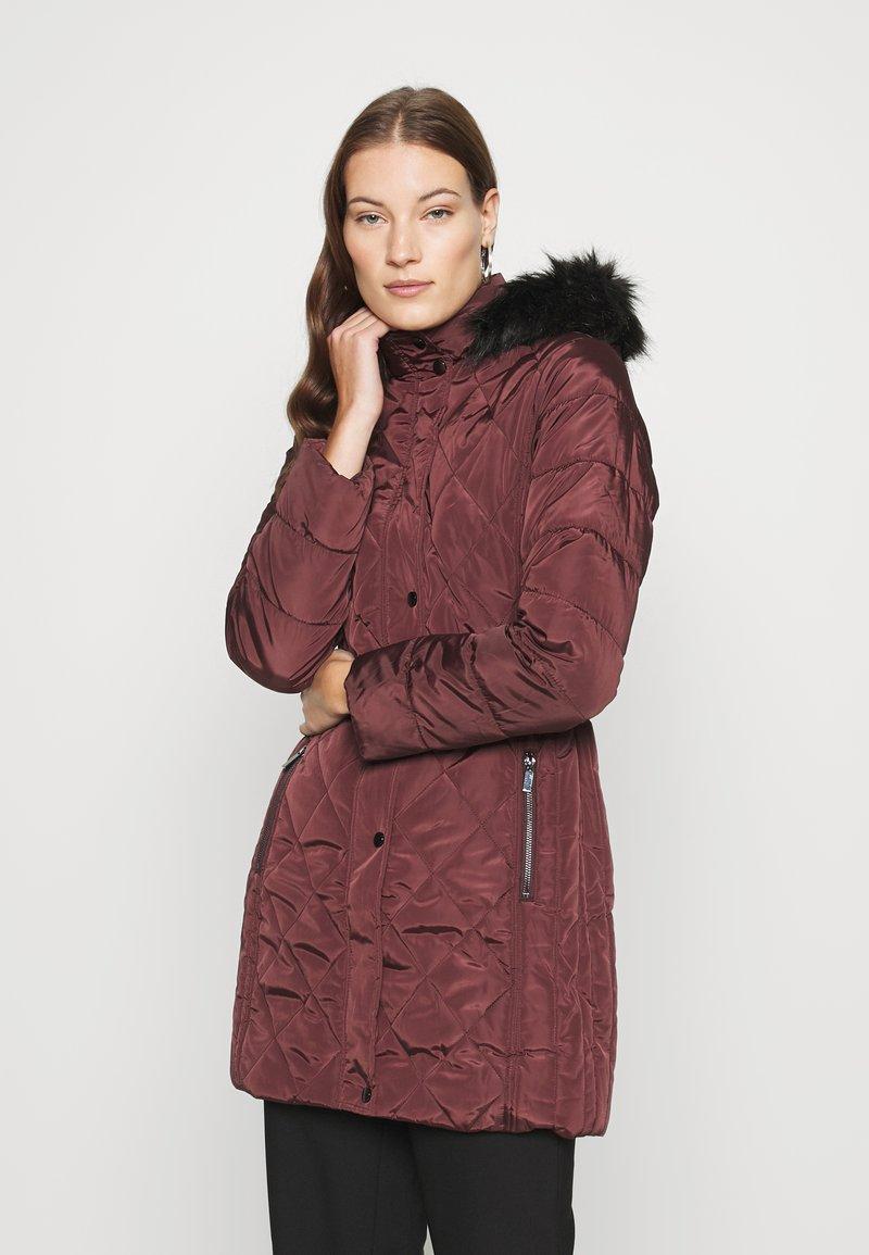 Dorothy Perkins - LONG PUFFER COAT - Winter coat - wine