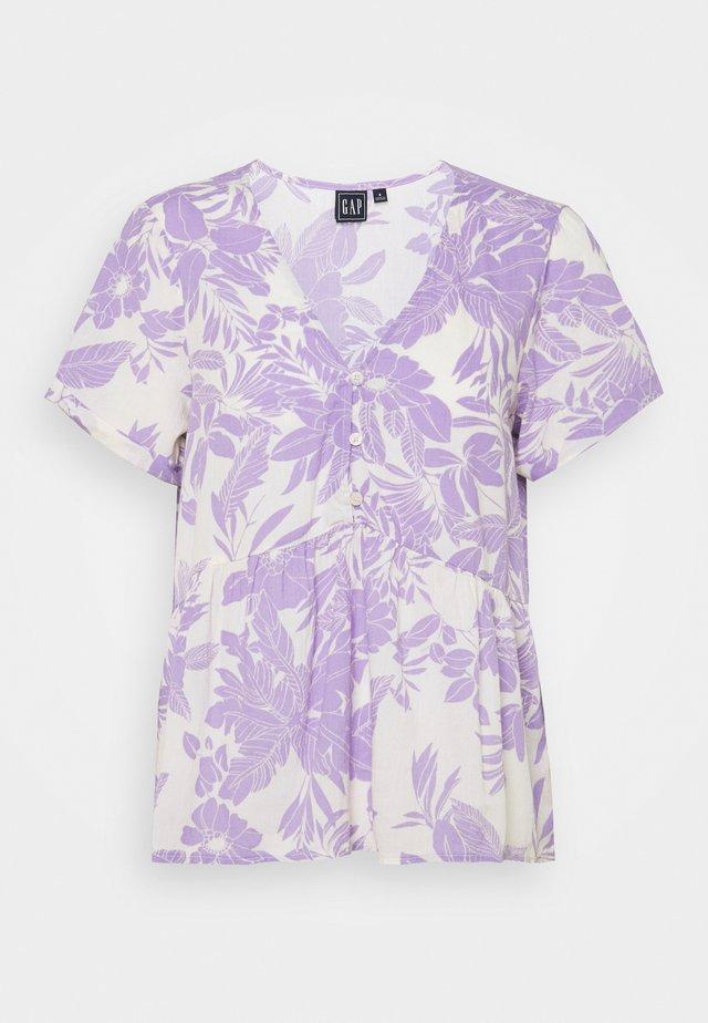 PEPLUM TOP - Print T-shirt - purple