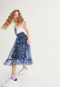 Next - Pleated skirt - blue - 1