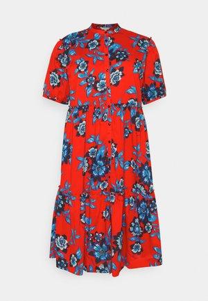 FLORAL MIDI DRESS - Shirt dress - hot house/fireworks