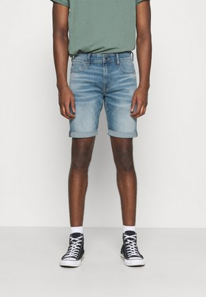 3301 SLIM SHORT - Short en jean - blue denim