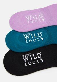 Wild Feet - WILDFEET INVISIBLE SOCKS 3 PACK - Enkelsokken - multi-coloured - 1