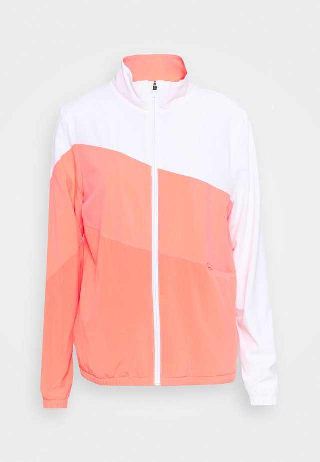 TRACK JACKET - Trainingsvest - georgia peach/ignite pink