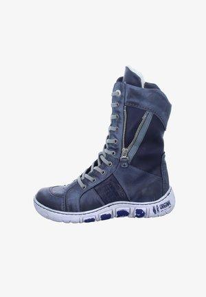 Lace-up boots - blau