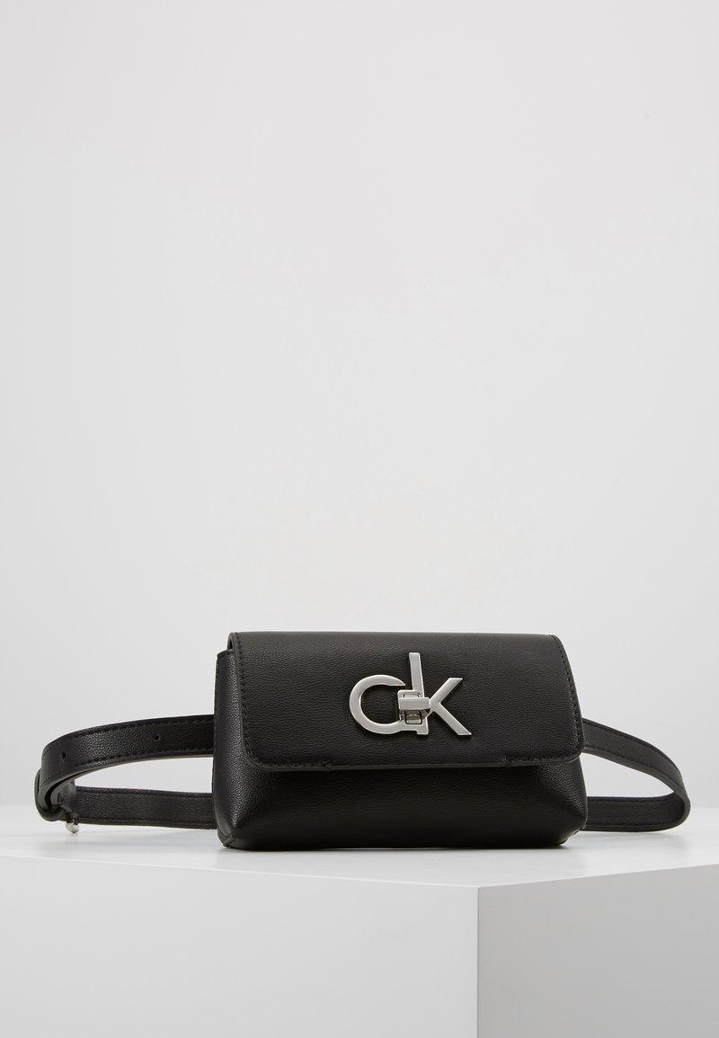 Calvin Klein - RE LOCK BELT BAG - Rumpetaske - black