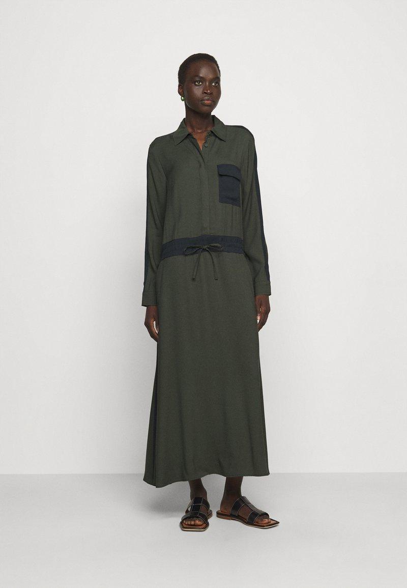 MAX&Co. - GLENDA - Skjortekjole - khaki green