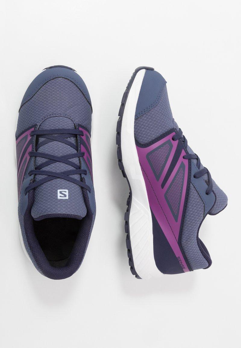 Salomon - SENSE CSWP - Hiking shoes - crown blue/evening blue/sparkling grape