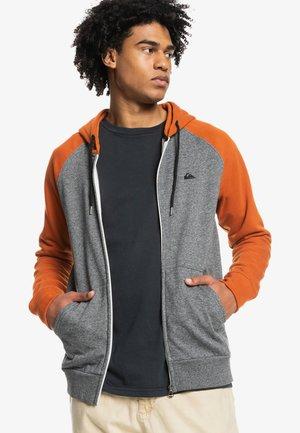 ESSENTIALS ZIP RAGLAN - Sweater met rits - dark grey heather